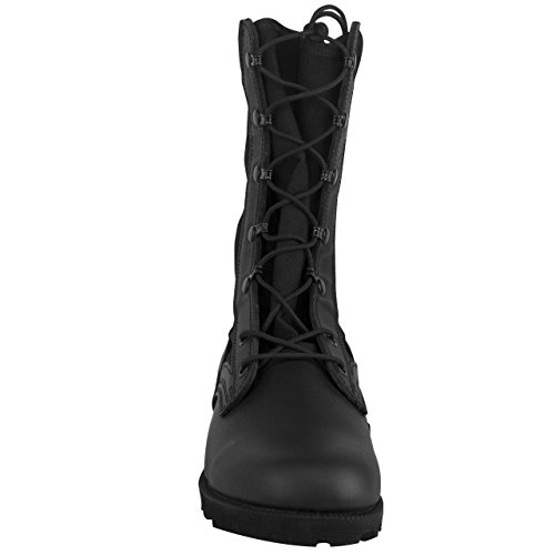 with Black Sole Commando Combat Boot Military Mil Spec Protection and Spike Vulcanized 9
