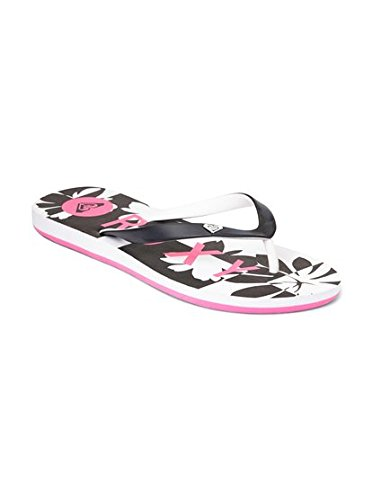 Roxy Women's Tahiti Sandals Flip Flop, Pink Stripe, 9 M US