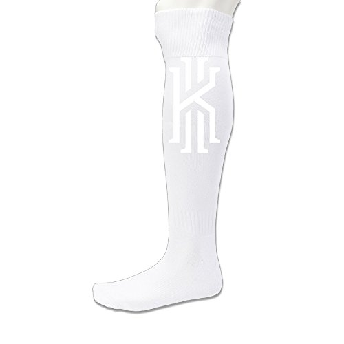 EDRE Kyrie Basketball Player Men's&Women's Football SockWhite (1 Pair)]()