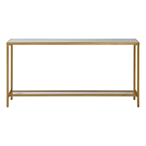 Uttermost 24685 Hayley Console Table in Antiqued Gold Leaf from Uttermost