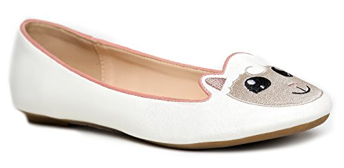 Cute to the Core Critter Round Toe Casual Ballet Flats - Unicorn Bear Cow Sheep Panda Animals -