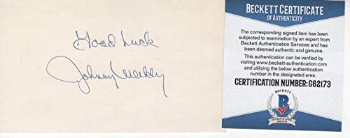 JOHNNY WEEKLY HOUSTON COLT 45S SIGNED RARE 3X5 INDEX CARD BECKETT ()