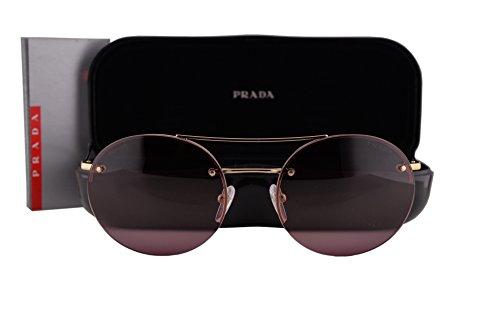 Prada PS54RS Sunglasses Pale Gold w/Pink Gradient Lens ZVN6M0 - Prada Mirrored Aviators