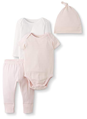 Moon and Back by Hanna Andersson Baby Gift Sets, Light Pink, 0-3 months from Moon and Back by Hanna Andersson