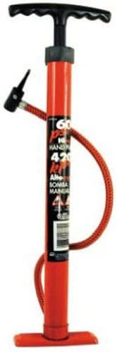 Custom Accessories 57772 Red Enamel Tire Hand Pump 60 PSI