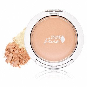 100% Pure: Healthy Flawless Skin Foundation Powder with Spf 20 Peach Bisque, .32 oz, Natural Formula Packed Full of Anti Aging Vitamins, Antioxidants, Eucalyptus, Soothing Calendula and Chamomile