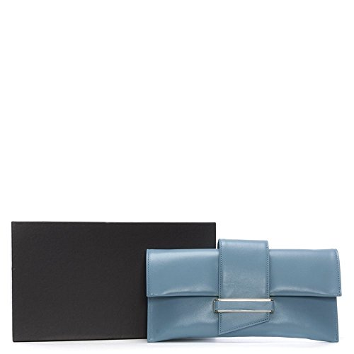 Daniel allo stesso modo blu in pelle pochette busta Blue Leather