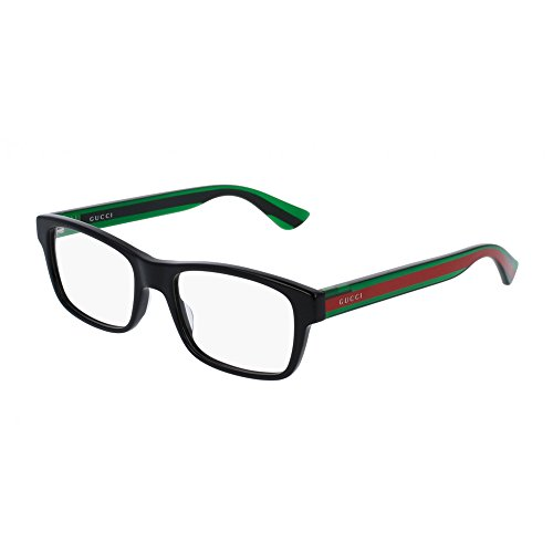 Gucci GG0006O Optical Frame 002 Black Green Transparent 53 - Gucci Transparent