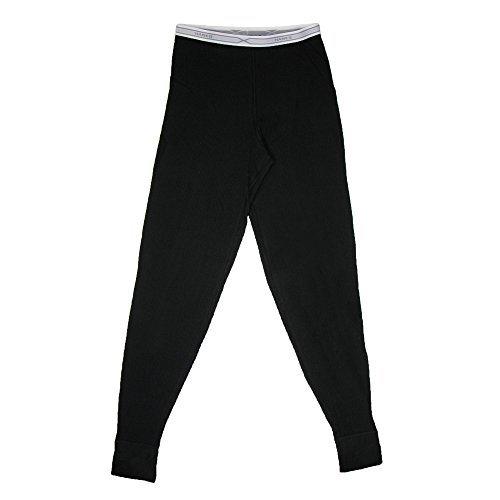 Hanes Women's Thermal Pants, Large, Black