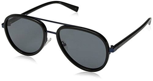 Nautica Men's N4627sp Polarized Aviator Sunglasses, BLACK, 57 mm
