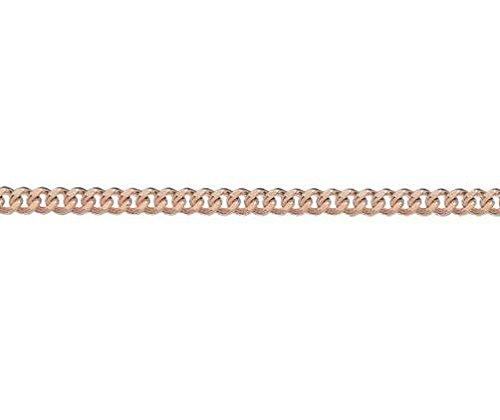 Or 9ct Rouge/rose Archivés Gourmette Bracelet 19,1cm/19cm