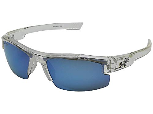 Under Armour Kids' Nitro L Storm Polarized Rectangular Sunglasses, Clear, 59 ()