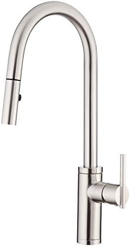 Danze D454058SS Parma Cafe Pull-Down Kitchen Faucet with SnapBack Retraction, Stainless Steel