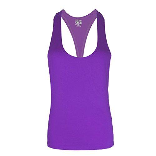 entra sans L Chemisier Violet Gilet Fitness Polyester Couture Taille Vif Gym Femme nement Sports M Stretch Lamdoo Dbardeur Chemise Rose 1pice wXSaBPfpqp
