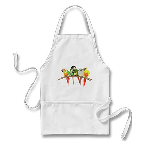 SG.Maybee Green Cheek Conures Kitchen Apron with Pockets for Women Men, Kitchen Accessory
