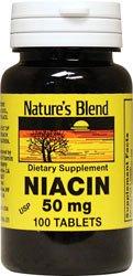 Никотиновая кислота 50 мг 50 мг 100 таблеток по Бленд природы