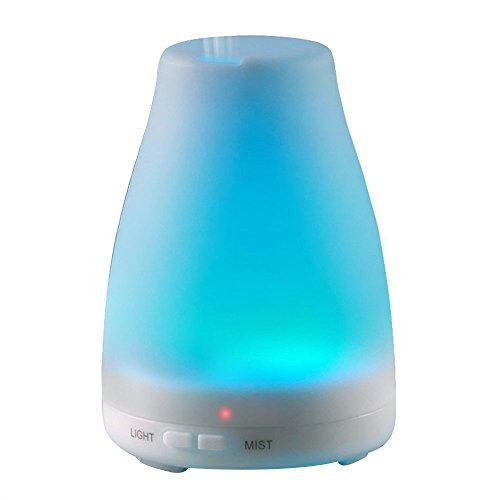 VicTsing 160 ML Essential Oil Diffuser, 2nd Version BPA-Free Ultrasonic Aromatherapy Diffuser Aroma Diffuser with 7 Colors, Waterless Auto-Off Function, Great for Bedroom, Nursery, Office and Gym