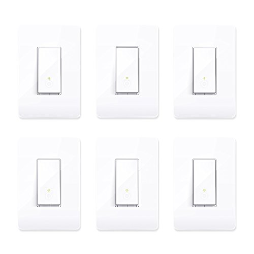 TP-Link Smart HS200 WiFi Light Switch Cover Compatible w/ Phone Control (6 Pack)