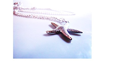Chic Necklace, Fashion Necklace, Sterling Silver Necklace, Starfish Pendant Silver, Wedding Gifts