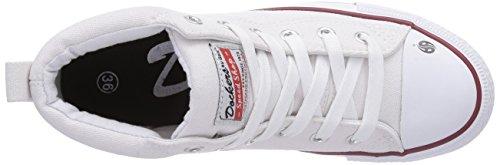 Dockers by Gerli 36AY60 - zapatillas deportivas altas de lona infantil blanco - Weiß (weiss 500)