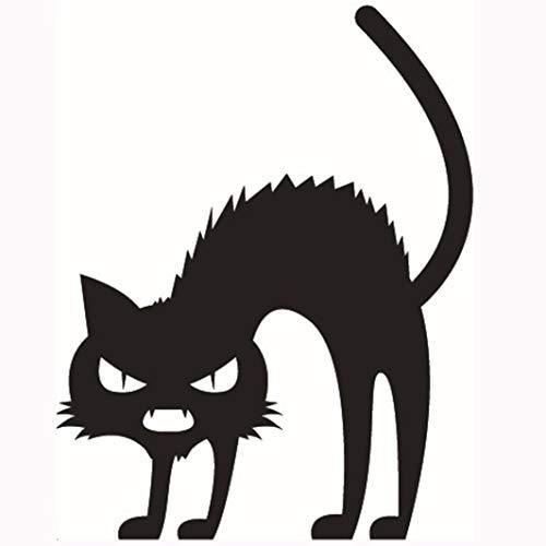 YOcheerful Clearance Deals Halloween Sticker Devil Kittens Room Decor Home Decor (B,17cm13cm) -