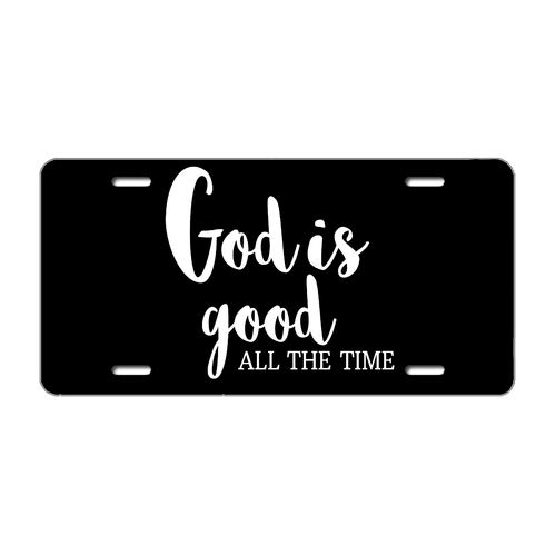 License Plate Cover God is Good All The Time Christian Printed Auto Truck Car Front Tag Personalized Metal License Plate Frame Cover 6