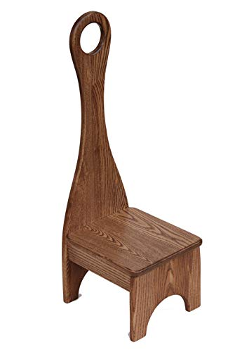 Tall Handle Step Stool, Solid Wood Bench Step Stool (Authentic, - Oak Furniture Amish Cherry