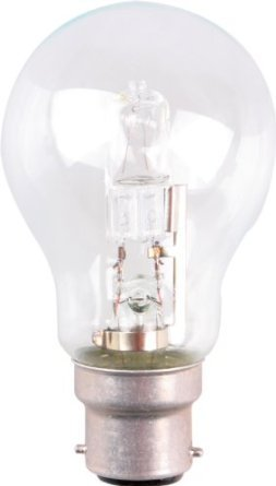 105 W = 135 W Klassische GLS BC B22 B22d Bajonettsockel Eco Halogen A60 Energiesparend dimmbar Leuchtmittel 240 V, 3 Stü ck Starlight