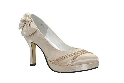 Pumps Heel Damen MINITOO Gold 9cm zxqI5B