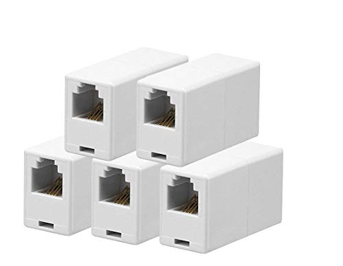 iMBAPrice RJ11 4P4C Straight Telephone Inline Coupler (5 Pack)