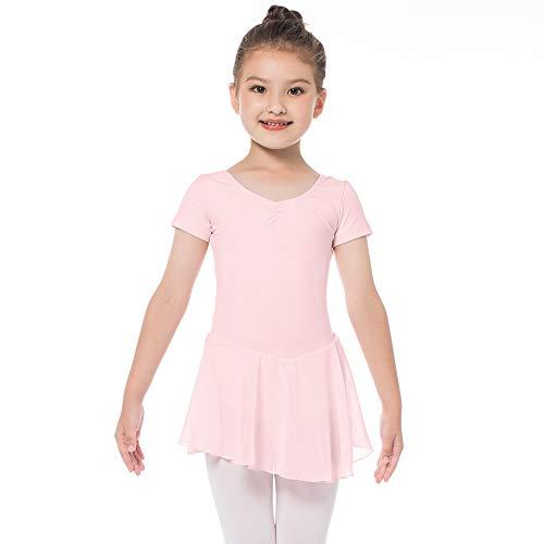 ce03d72e47098 Bezioner Ballet Dress Ballet Leotards with Skirt Dance Tutu Dresses Short  Sleeve Skirted Leotard for Toddler