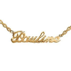 Collier prénom découpé en plaqué or (prénom modifiable).