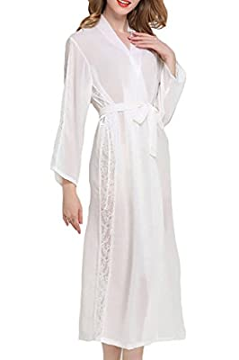 Asherbaby Womens Nightgown,Cotton Victorian Vintage Sleepwear Loungewear Long Sleeve Nightshirt Sleepdress