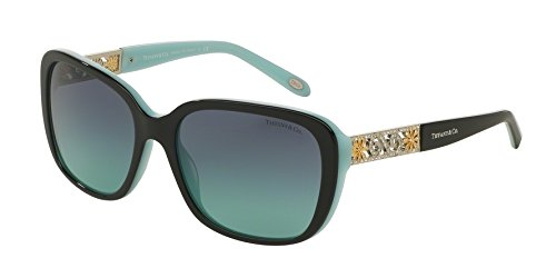 Tiffany TF4120B 80559S Black / Blue TF4120B Butterfly Sunglasses Lens - Tiffany Butterfly Sunglasses