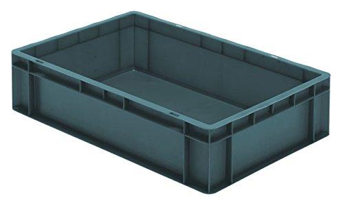 600/x 300/x 145/mm De Transport Bo/îte Empilable tk614 usage alimentaire gris qualit/é industrielle volume: 26/l charge maximale: 45/kg 4/Pcs L x l x h en PP fabriqu/é en Allemagne