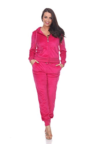 (Fitted Velour 2 Piece Tracksuit With Jogger Style Pants & Hoodie Jacket)