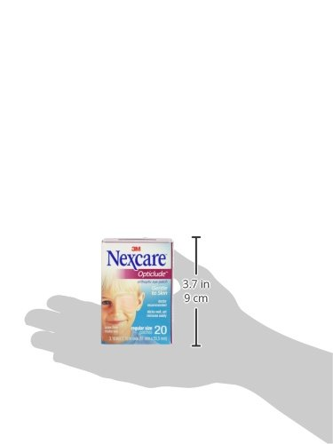 Nexcare Opticlude Eyepatch, Regular, Hypoallergenic Adhesive, Contoured for Fit, Can Be Used Under Glasses, 60 Count
