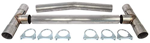 JEGS 30531 H-Pipe Kit 2.5 Dia. 16-gauge 409 Stainless Steel