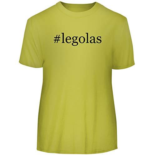 One Legging it Around #Legolas - Hashtag Men's Funny Soft Adult Tee T-Shirt, Yellow, XX-Large