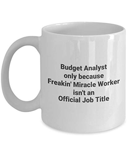 Budget Analyst Freakin Miracle Worker Funny Occupational Novelty