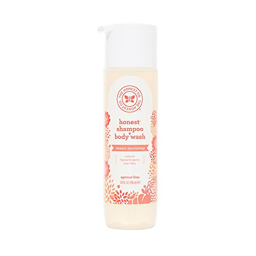 Honest Deeply Nourishing Hypoallergenic Shampoo and Body Wash , Apricot Kiss, 10 Fl Oz