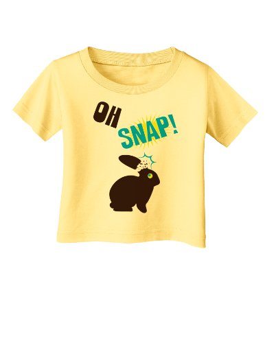 Oh Snap Chocolate Bunny Easter Infant Baby T-Shirt - Daffodil Yellow - 24Months (Easter Bunny Yellow T-shirt)