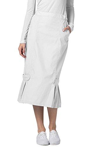 (Adar Universal Tabbed Pleat Panel Skirt - 711 - White -)