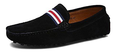 Loafers Daim Flats Eagsouni Penny 1noir Ville Bateau Chaussures En Mocassins Casual Hommes De wPEqUX1E