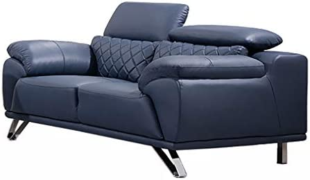 Editors' Choice: American Eagle Furniture EK529 Ultra Modern Top Grain Italian Leather Living Room Loveseat