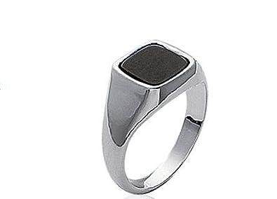 Anelli anello chevalier argento per uomo con onice Max