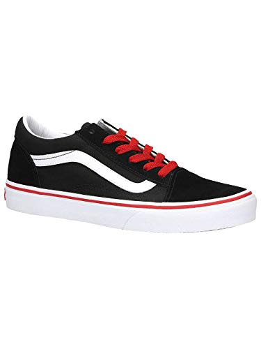 Nero Black Trainers Old Youth Uy Vans racing Red Skool Suede qfwz1SHtx