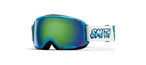 Smith Optics Grom Youth Snow Goggles - Cyan Yeti/Green Sol-X Mirror/One Size