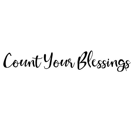 Crafte Life Count Your Blessings Wall Sticker | Vinyl Wall Decal | Christian and Religious Wall Art | Inspirational Wall Decal (22 inches Long)