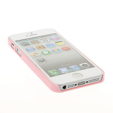 DIY 3D Bow and Heart Pattern Plastic Hrad Case for iPhone 5 5S ( Color : Pink )